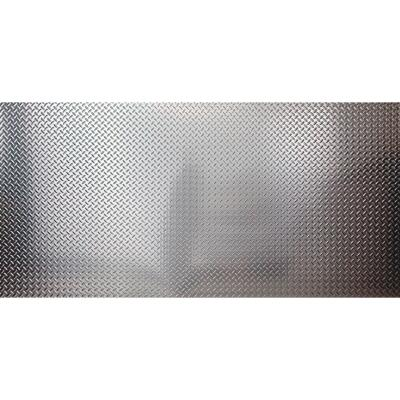 ACP 4 Ft. x 8 Ft. x 0.013 In. Brushed Aluminum Diamond Plate Wall Paneling