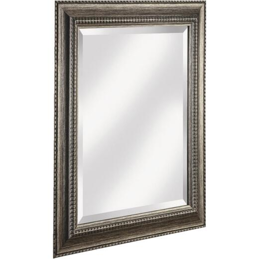Erias Home Designs Traditional 21.5 In. W x 25.5 H Antique Pewter Composite Framed Wall Mirror