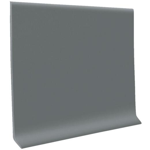 Roppe 4 In. x 20 Ft. Roll Dark Gray Vinyl Self-Stick Wall Cove Base