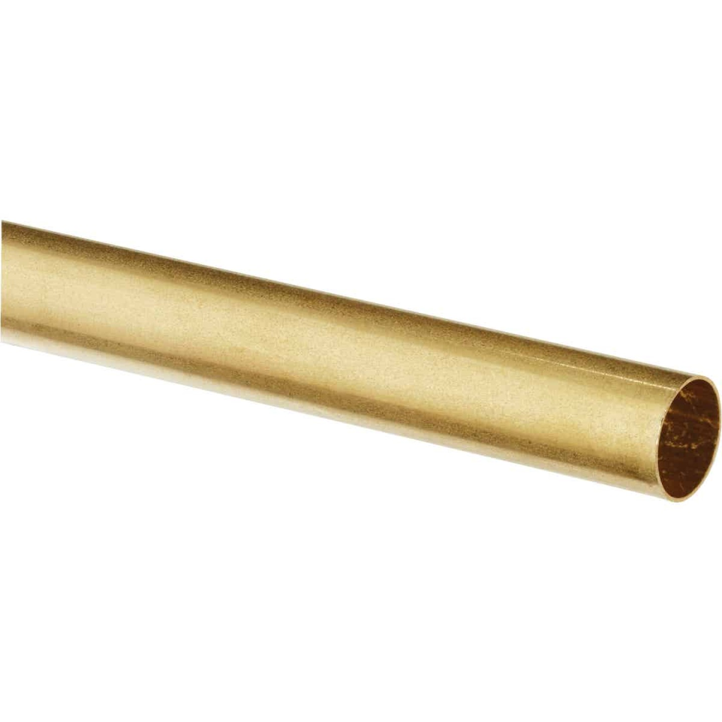 K&S Brass 3/8 In. O.D. x 1 Ft. Round Tube Stock Image 1