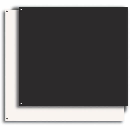 Broan-Nutone 24 In. x 30 In. Aluminum Backsplash Panel, Reversible Biscuit/Black