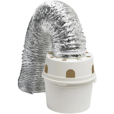 Dundas Jafine White Indoor Electric Dryer Vent Kit (5-Piece)