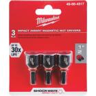 Milwaukee 1/2 In. x 1-1/2 In. Insert Impact Nutdriver, (3-Pack) Image 1