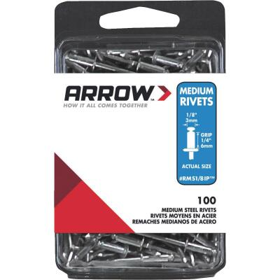 Arrow 1/8 In. x 1/4 In. Steel IP Rivet (100 Count)