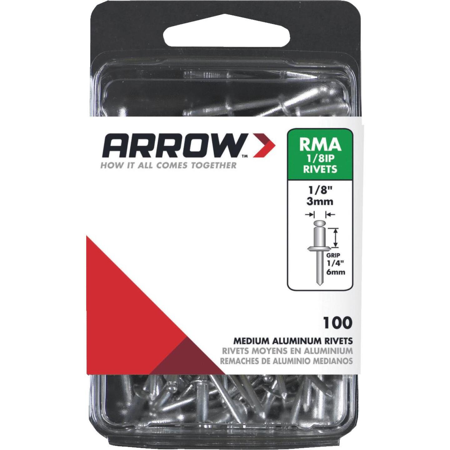 Arrow 1/8 In. x 1/4 In. Aluminum IP Rivet (100 Count) Image 1