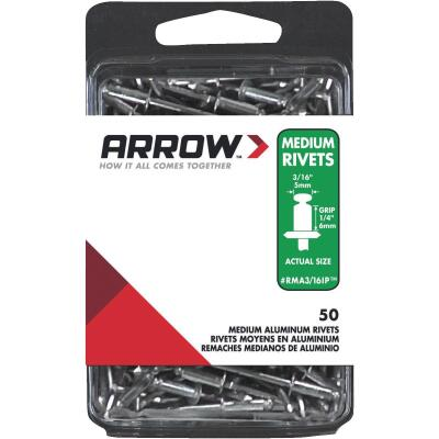 Arrow 3/16 In. x 1/4 In. Aluminum IP Rivet (50 Count)