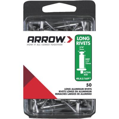 Arrow 3/16 In. x 1/2 In. Aluminum IP Rivet (50 Count)