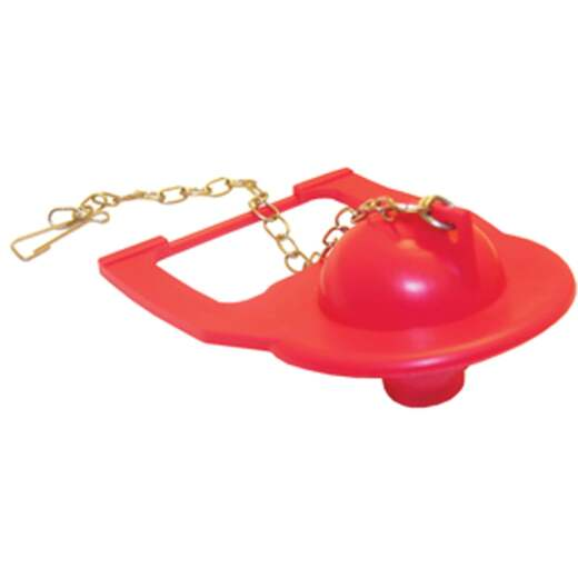 Lasco Square Back Red Rubber Flapper with Chain