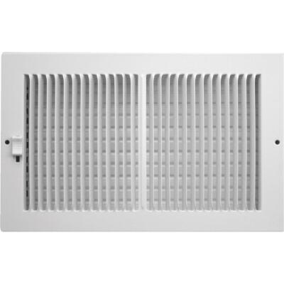 Accord 10 In. x 6 In. White Wall Register