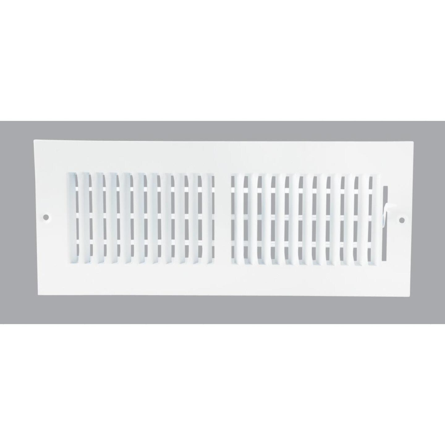Home Impressions White Steel 5.75 In. Wall Register Image 1