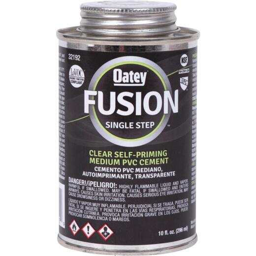 Oatey 10 Oz. Clear Fusion Single Step Priming PVC Cement