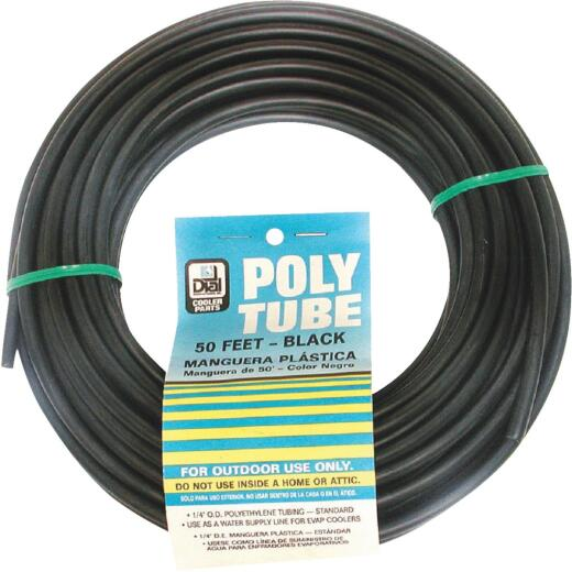 Dial 1/4 In. OD x 50 Ft. L Black Poly Tubing