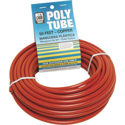 Dial 1/4 In. OD x 50 Ft. L Copper Poly Tubing
