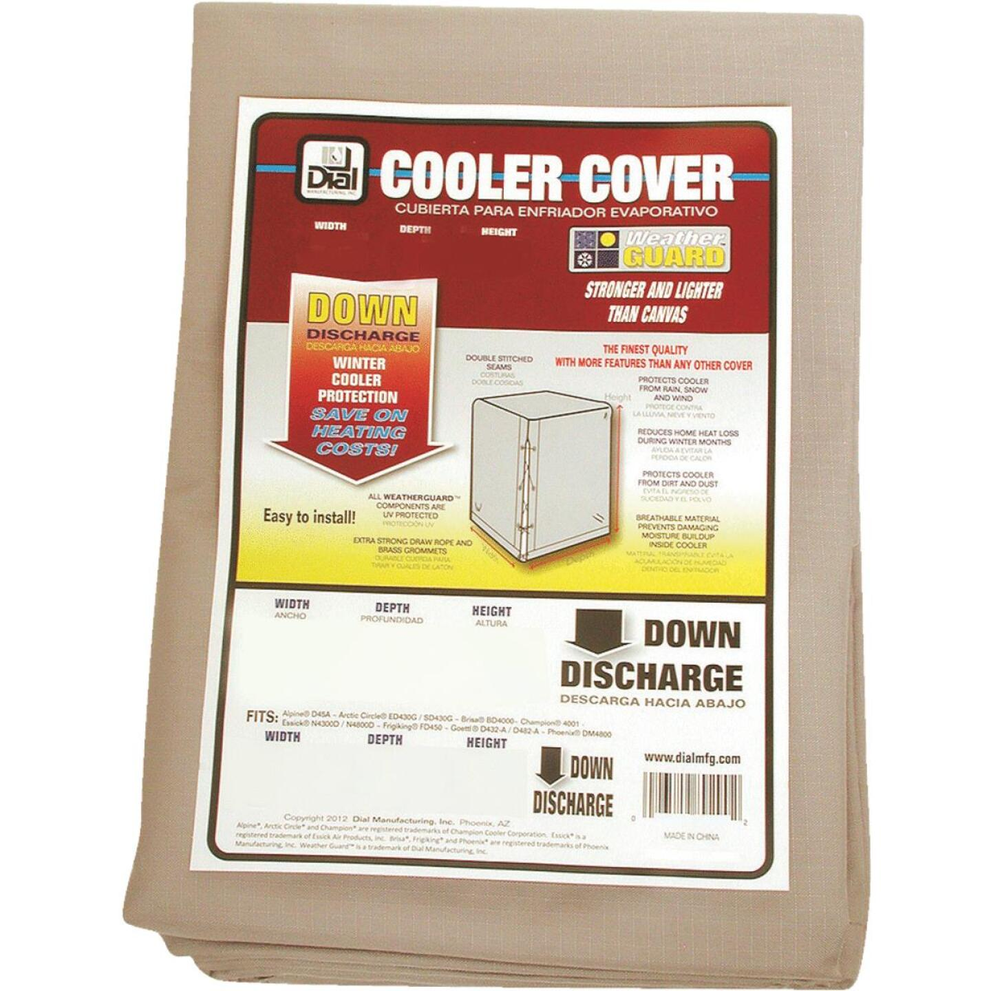 Dial 34 In. W x 34 In. D x 36 In. H Polyester Evaporative Cooler Cover, Down Discharge Image 1