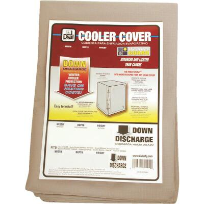 Dial 28 In. W x 28 In. D x 34 In. H Polyester Evaporative Cooler Cover, Down Discharge
