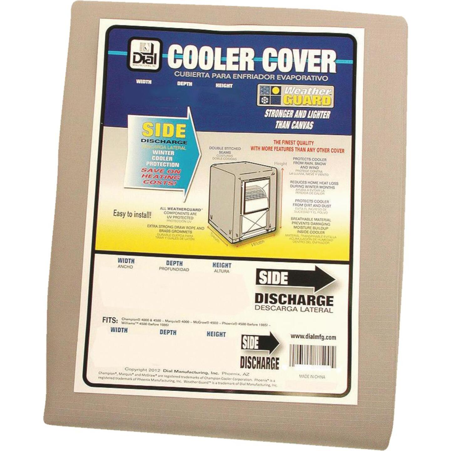 Dial 37 In. W x 37 In. D x 45 In. H Polyester Evaporative Cooler Cover, Side Discharge Image 1