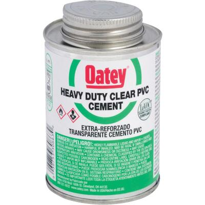 Oatey 4 Oz. Heavy Bodied Clear PVC Cement