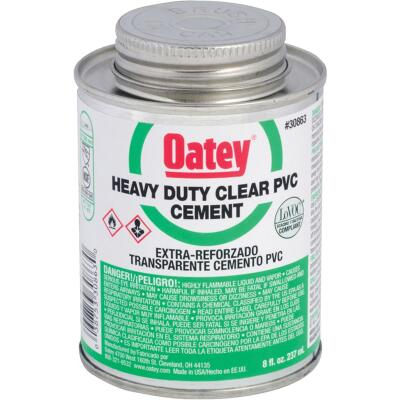 Oatey 8 Oz. Heavy Bodied Clear PVC Cement