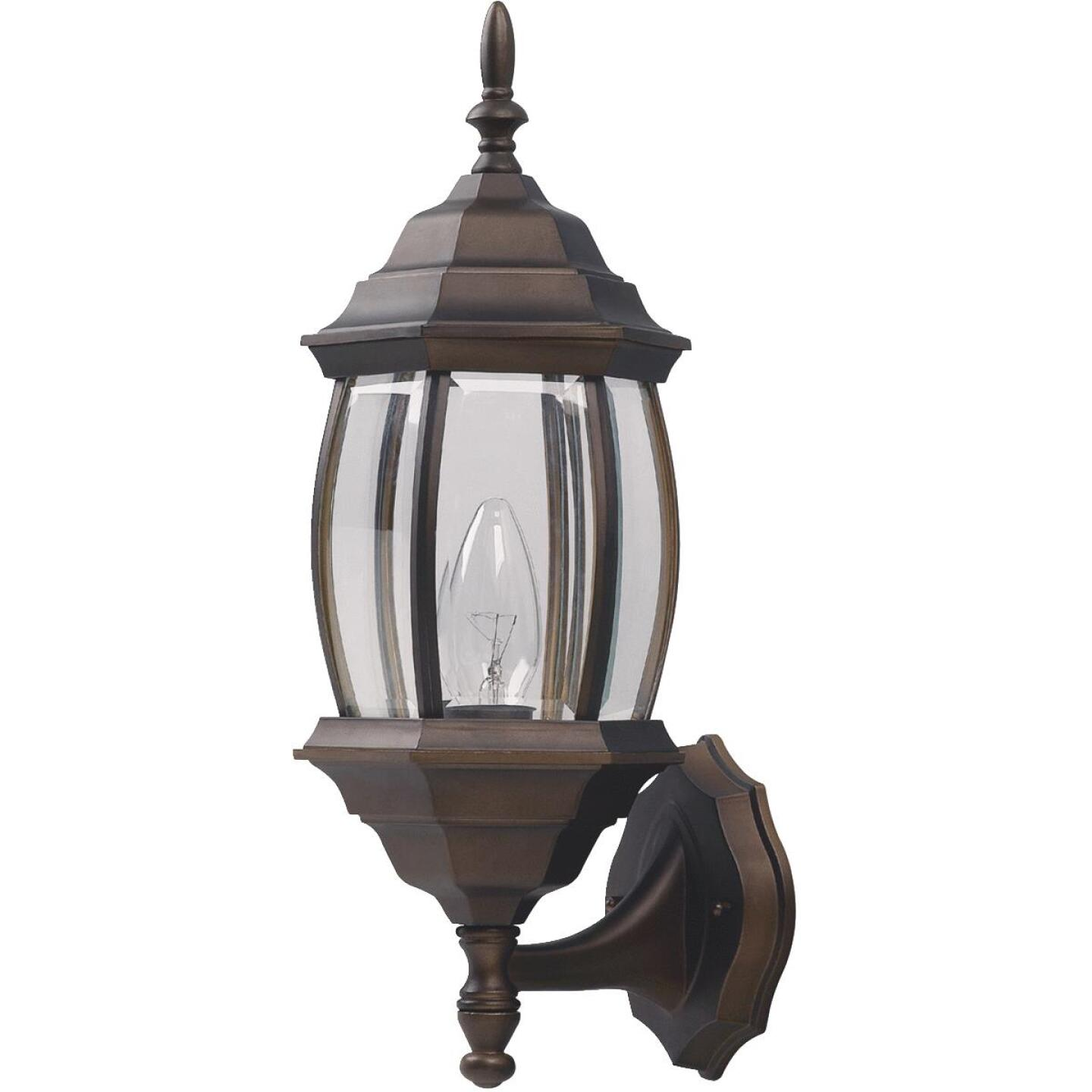 Home Impressions Oil Rubbed Bronze Incandescent Type A or B Outdoor Wall Light Fixture (2-Pack) Image 2