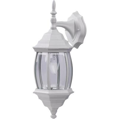 Home Impressions White Incandescent Type A or B Outdoor Wall Light Fixture (2-Pack)