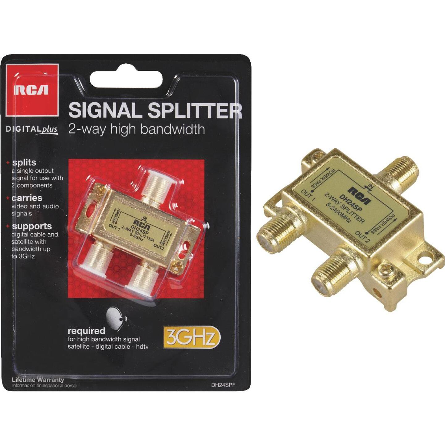RCA Digital Plus 2-Way Coaxial Splitter Image 1