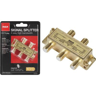 RCA Digital Plus 4-Way Coaxial Splitter