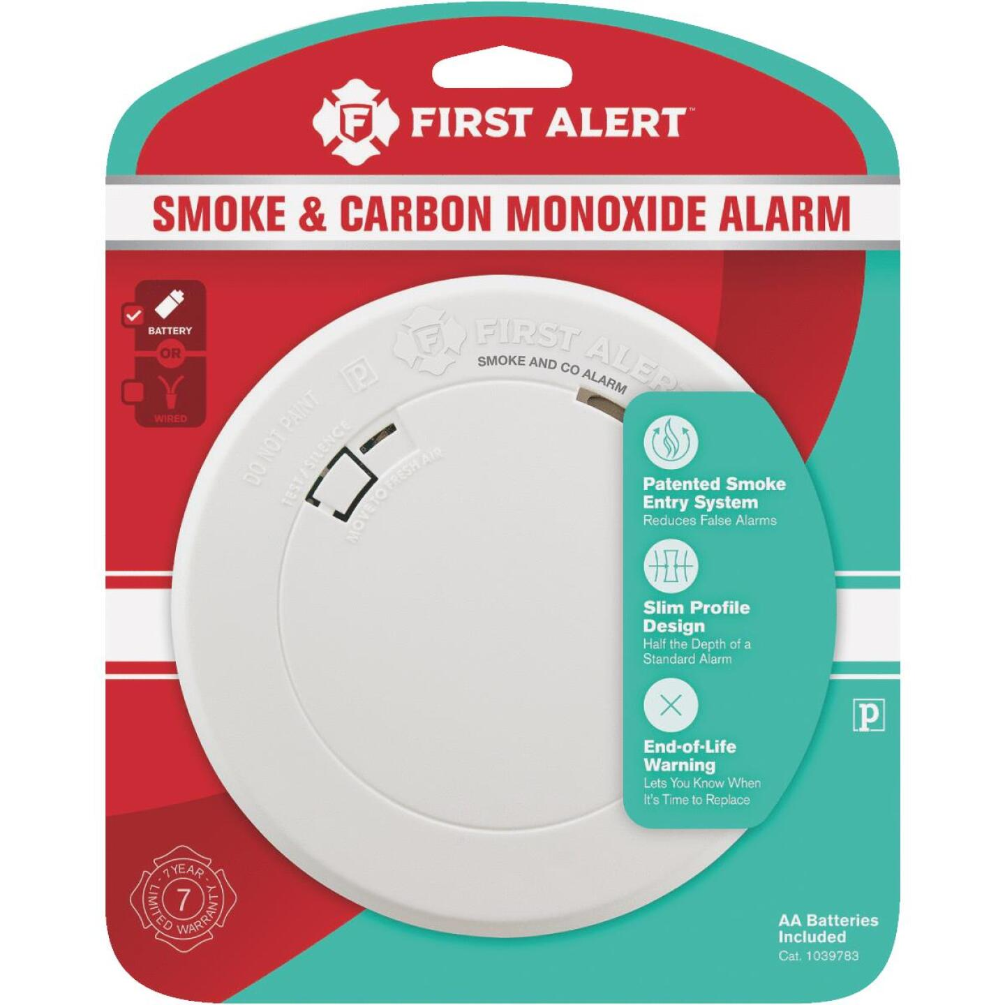 First Alert Battery Operated 3V Photoelectric Carbon Monoxide and Smoke Alarm Image 2