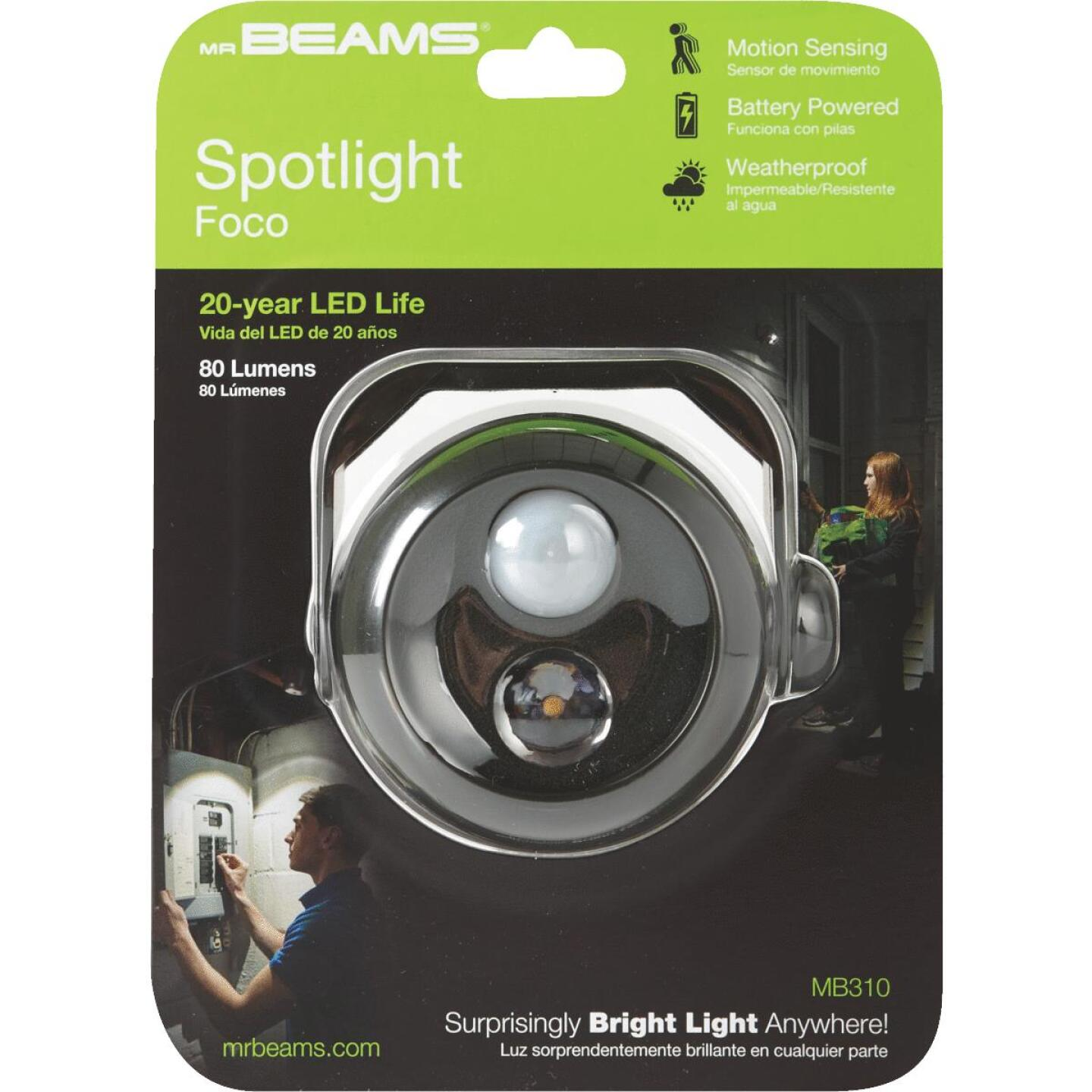 Mr. Beams 80-Lumen Brown Motion Sensing/Dusk-To-Dawn Spotlight Outdoor Battery Operated LED Light Fixture Image 2