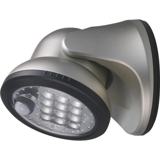 Light It Silver 275 Lm. LED Battery Operated Security Light Fixture