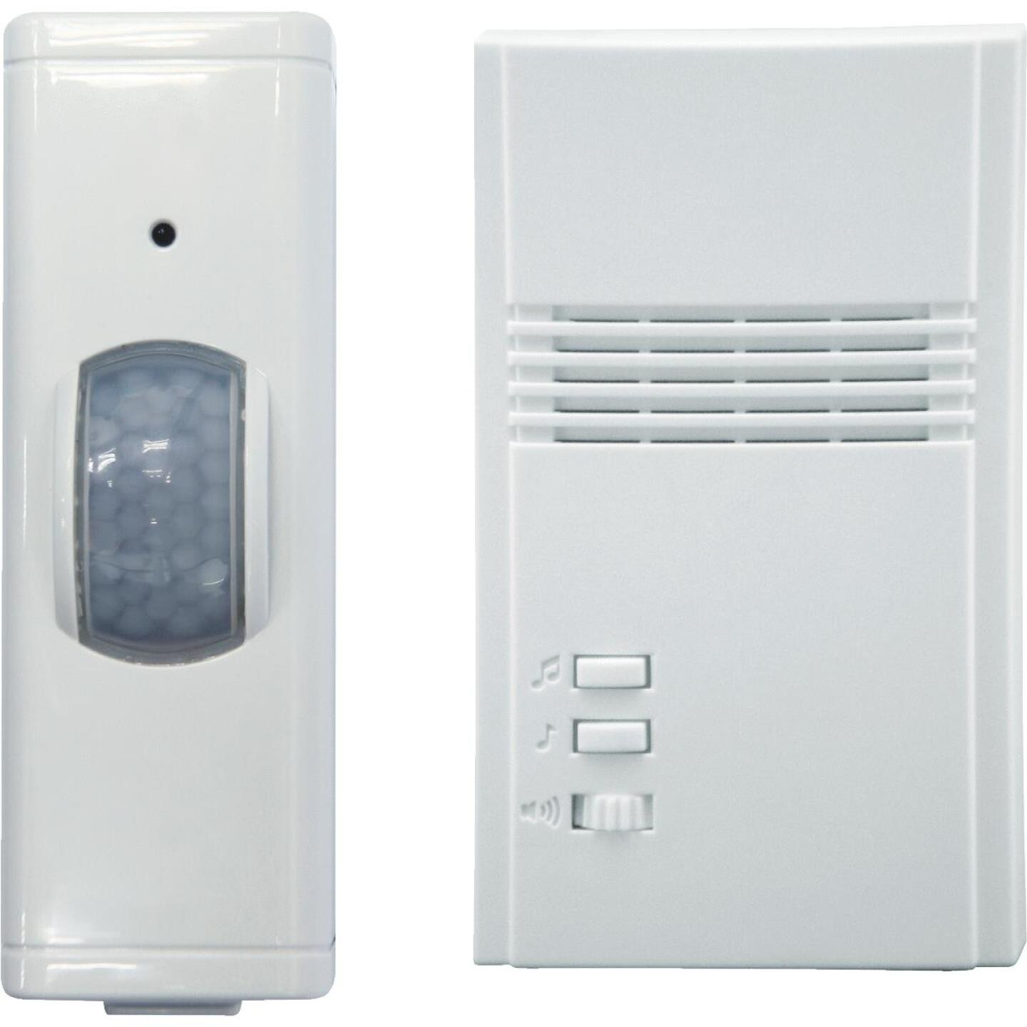 IQ America Motion Activated Entrance Alert Wireless Off-White Wireless Door Chime Image 1