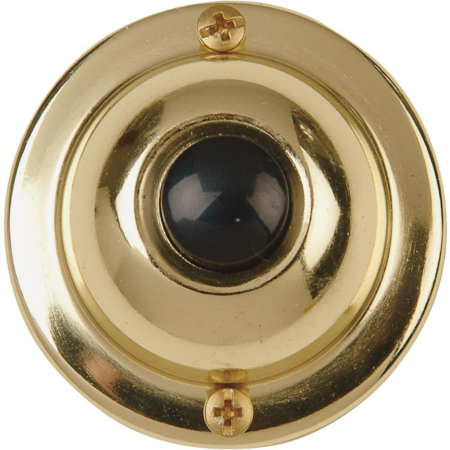 IQ America Wired Brass Classic Doorbell Push-Button Image 1