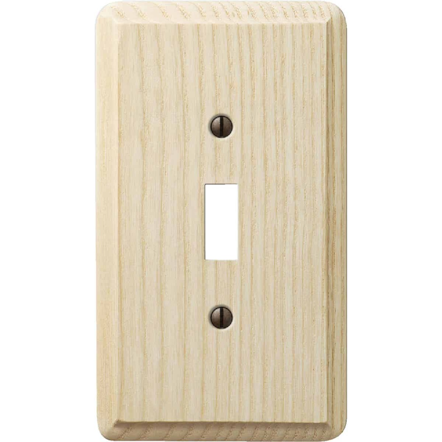 Amerelle 1-Gang Solid Ash Toggle Switch Wall Plate, Unfinished Ash Image 1