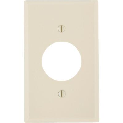 Leviton 1-Gang Smooth Plastic Single Outlet Wall Plate, Ivory