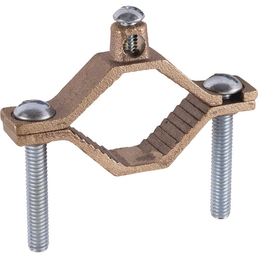 Halex 1-1/4 In. to 2 In. Set Screw Heavy-Duty Ground Pressure Cast Brass Ground Clamp