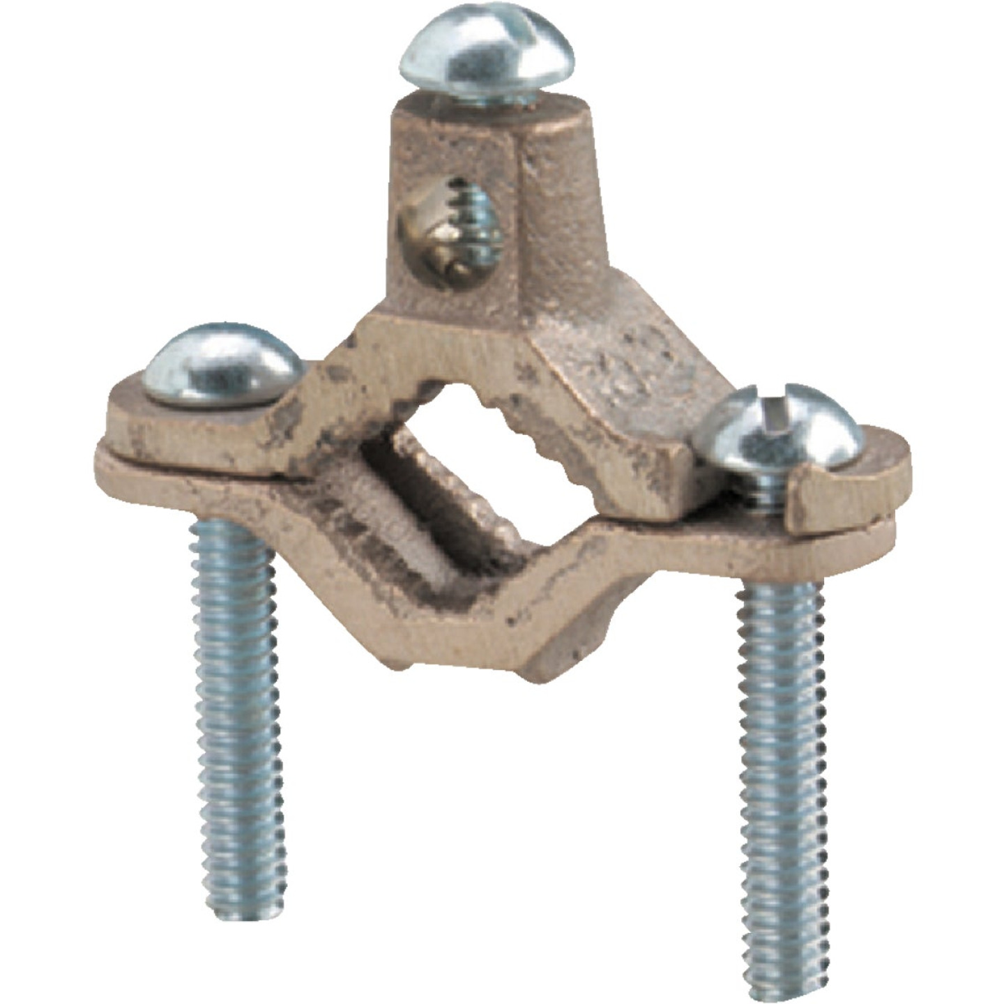 Steel City 1/2 In. to 1 In. #8 & #4 AWG Set Screw Ground Ground Clamp Image 1