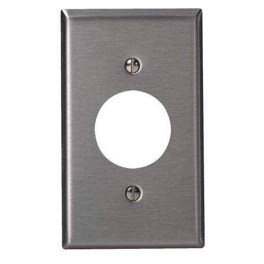 Leviton 1-Gang Stainless Steel Single Outlet Wall Plate