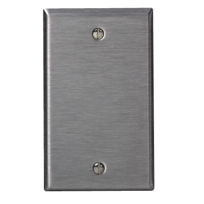 Leviton 1-Gang Standard Stainless Steel Blank Wall Plate