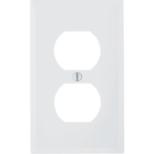 Leviton Commercial Grade 1-Gang Thermoplastic Outlet Wall Plate, White