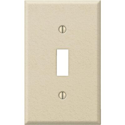 Amerelle PRO 1-Gang Stamped Steel Toggle Switch Wall Plate, Ivory Wrinkle