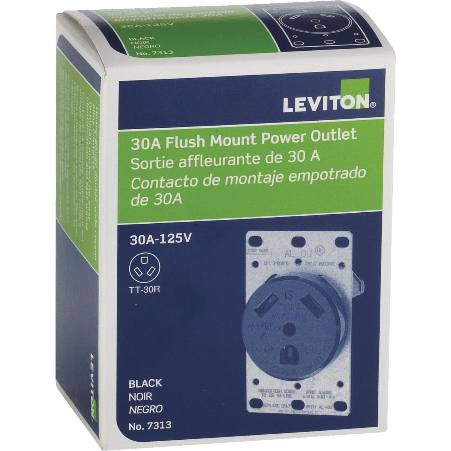 Leviton 30A Female Power Outlet RV Receptacle Image 2
