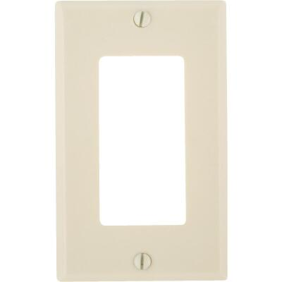 Leviton Decora 1-Gang Smooth Plastic Rocker Decorator Wall Plate, Ivory