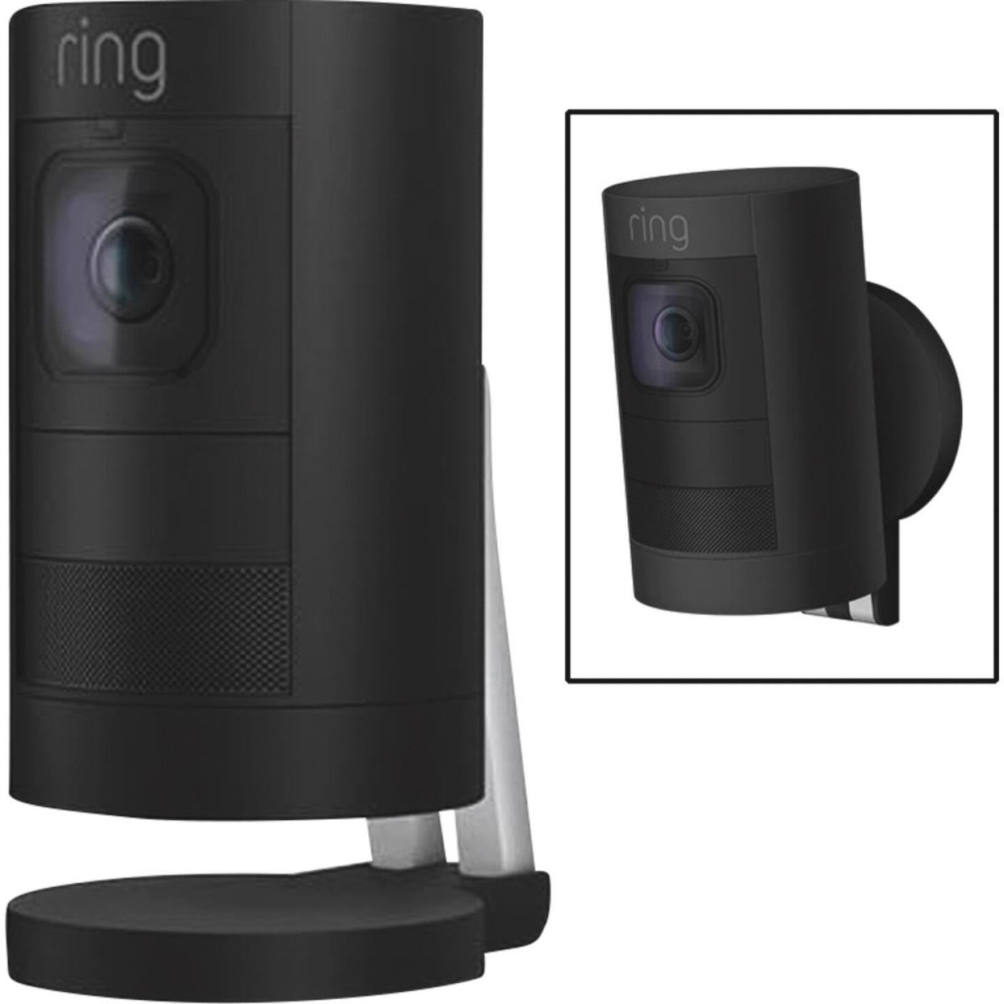 Ring Stick Up Cam Battery Operated Indoor/Outdoor Black Security Camera Image 1