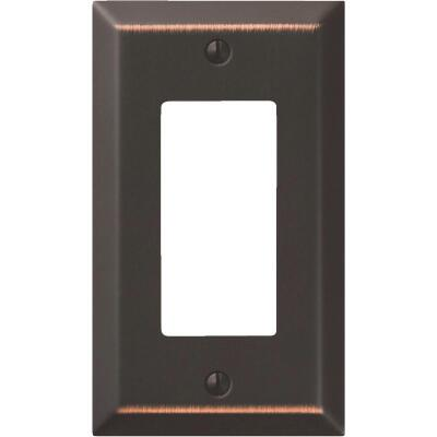 Amerelle 1-Gang Stamped Steel Rocker Decorator Wall Plate, Aged Bronze