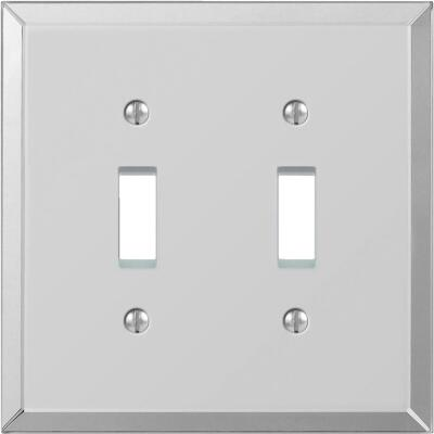 Amerelle 2-Gang Acrylic Beveled Mirror Toggle Switch Wall Plate