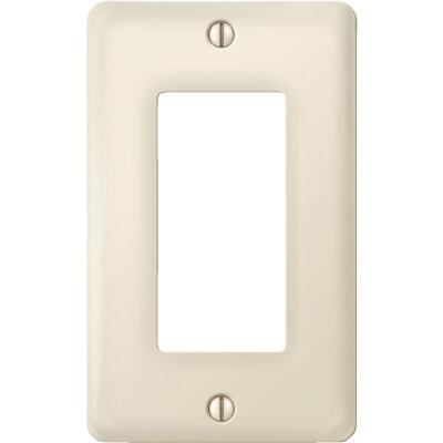 Amerelle 1-Gang Ceramic Rocker Decorator Wall Plate, Biscuit