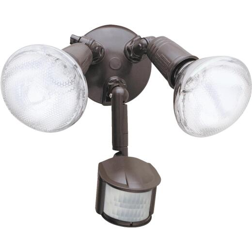 All-Pro Bronze Motion Sensing Dusk To Dawn Incandescent Floodlight Fixture