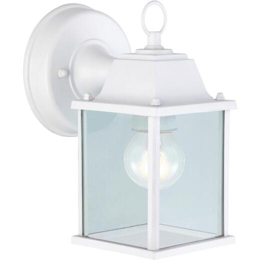 Home Impressions 100W Incandescent White Lantern Outdoor Wall Light Fixture