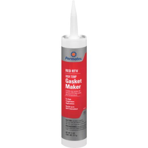 Permatex 11 Oz. High-Temp Red RTV Silicone Gasket Maker