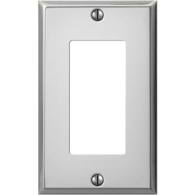 Amerelle PRO 1-Gang Stamped Steel Rocker Decorator Wall Plate, Polished Chrome