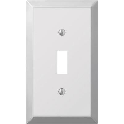 Amerelle 1-Gang Stamped Steel Toggle Switch Wall Plate, Polished Chrome